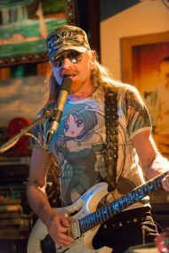 Michel Montecrossa live concert in the Music-Hall of the Omnidiet Hotel in Mirapuri, Italy