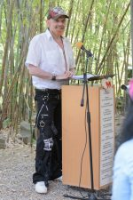 Michel Montecrossa giving a speech during the World Peace Festival in Mirapuri, Italy