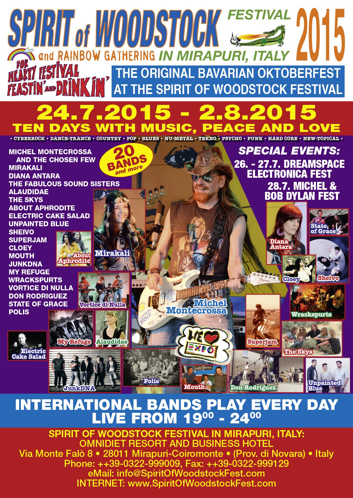 Spirit of Woodstock Festival 2015 in Mirapuri, Italy