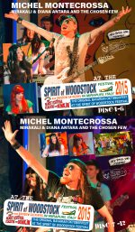Michel Montecrossa, Mirakali and Diana Antara at the Spirit of Woodstock Festival 2015 in Mirapuri, Italy