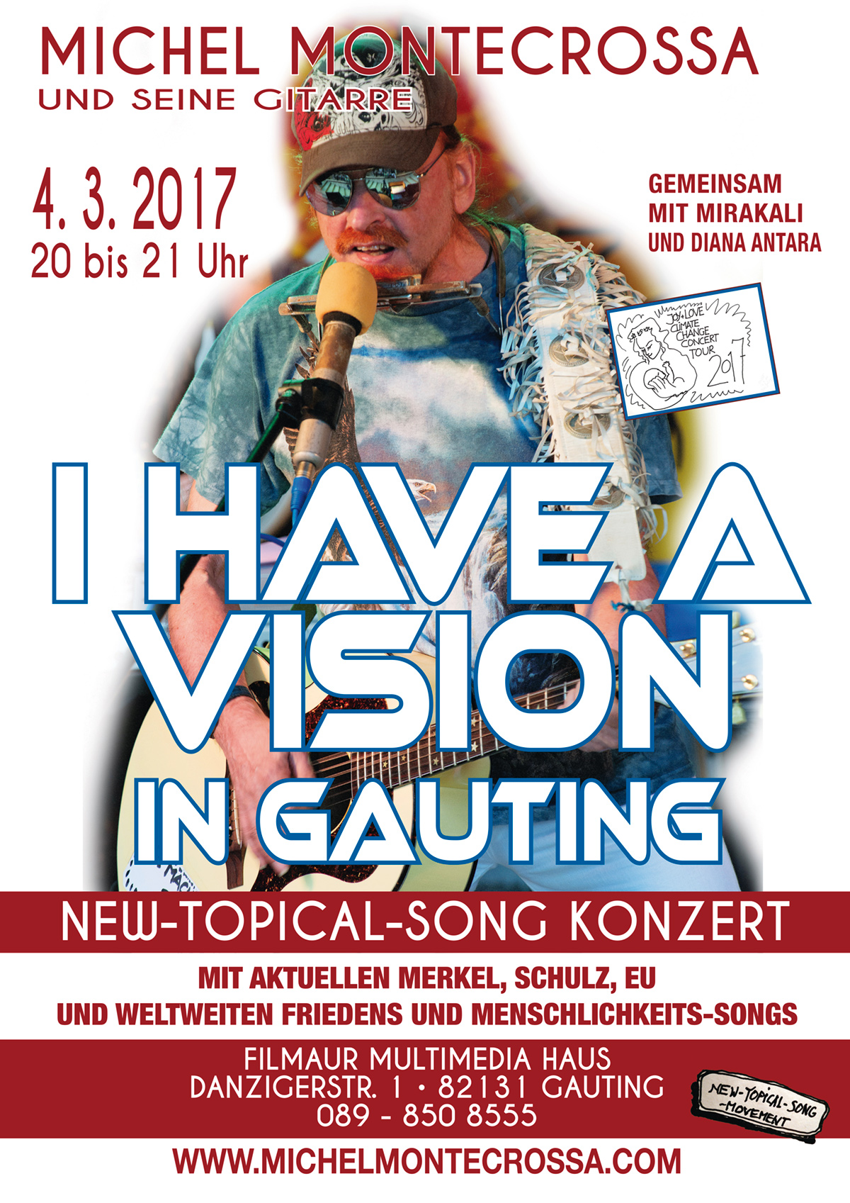 I Have A Vision Konzert in the Michel Montecrossa Rock Vision Diner