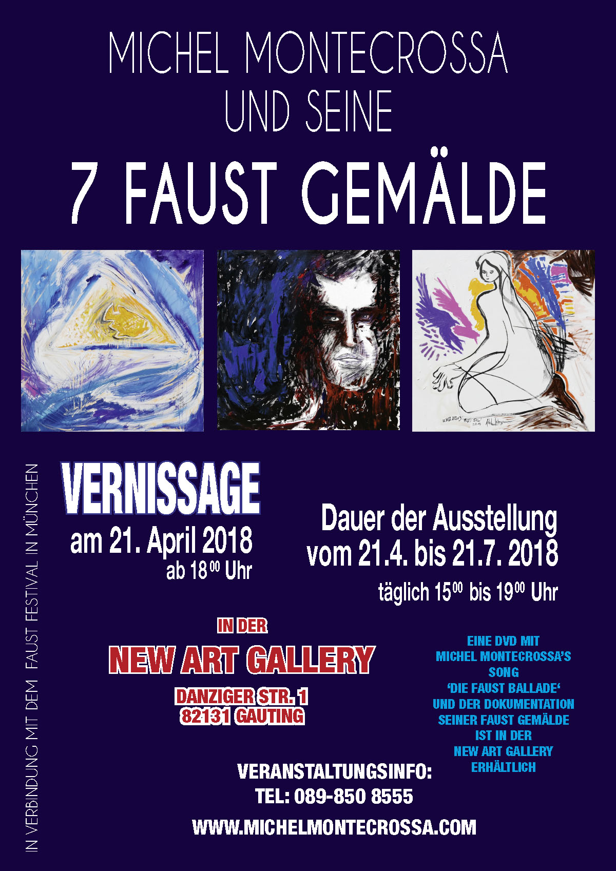 7 Faust Gemälde Vernissage in der New Art Gallery