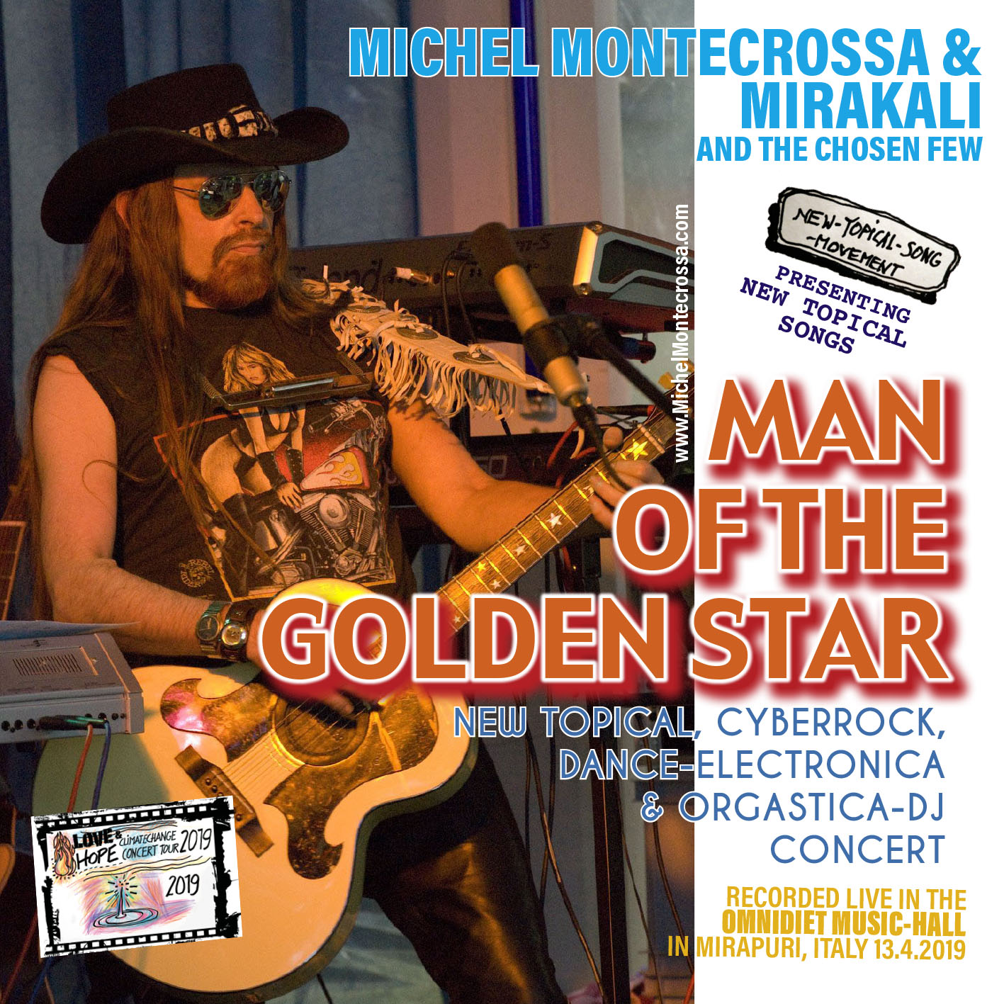 Man Of The Golden Star' New-Topical, Cyberrock, Dance