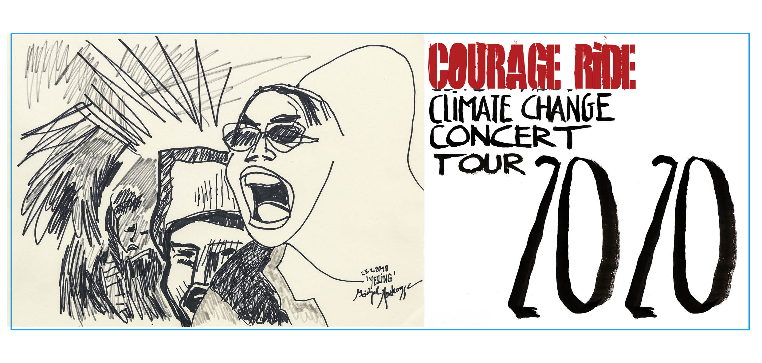Courage Ride Climate Change Concert Tour 2020